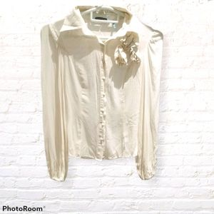 Guess by Marciano button down silk top blouse